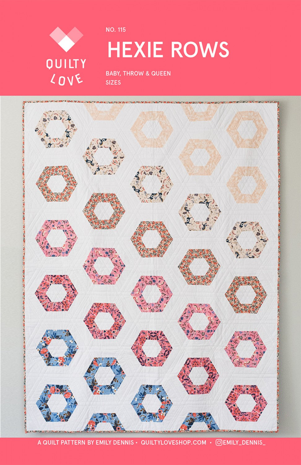 Hexie Rows Quilt Pattern