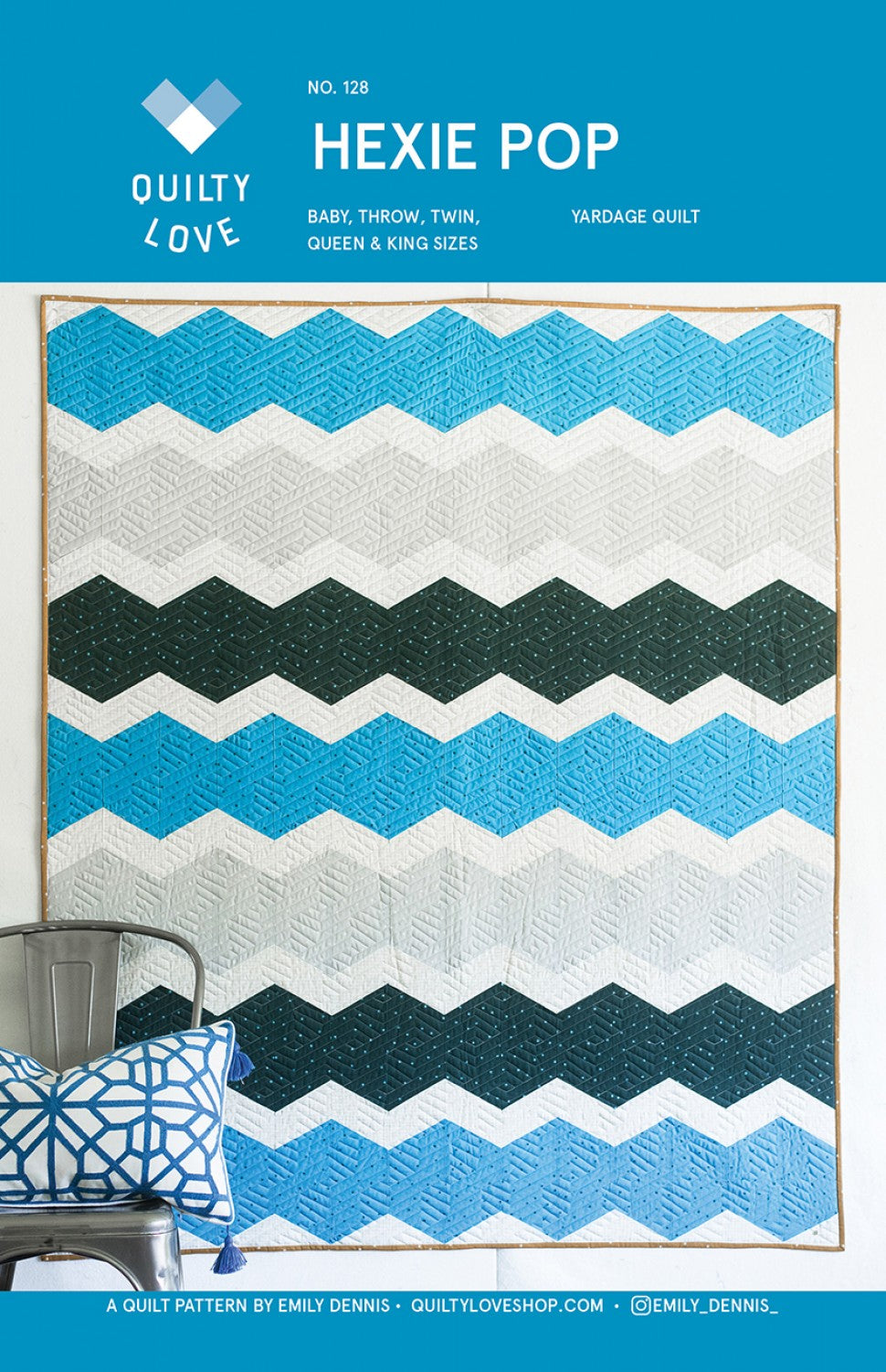 Hexie Pop Quilt Pattern