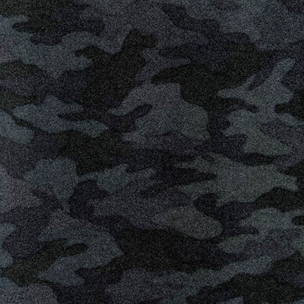Camouflage Flannel - Charcoal
