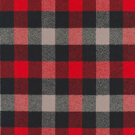Mammoth Flannel - Red Plaid - Thread Count Fabrics - Robert Kaufman