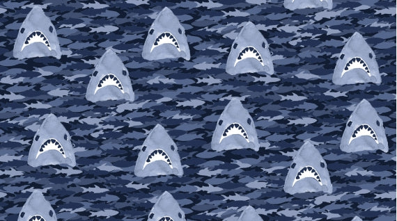 Shark In The Water - Fat Quarter Bundle | Quilting Cottons