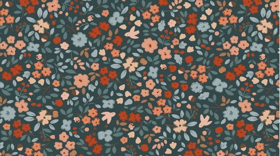 Country Mouse - Autumn Floral Carbon