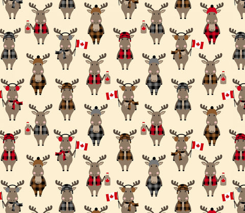 Purely Canadian Eh - Flannel Moose Natural