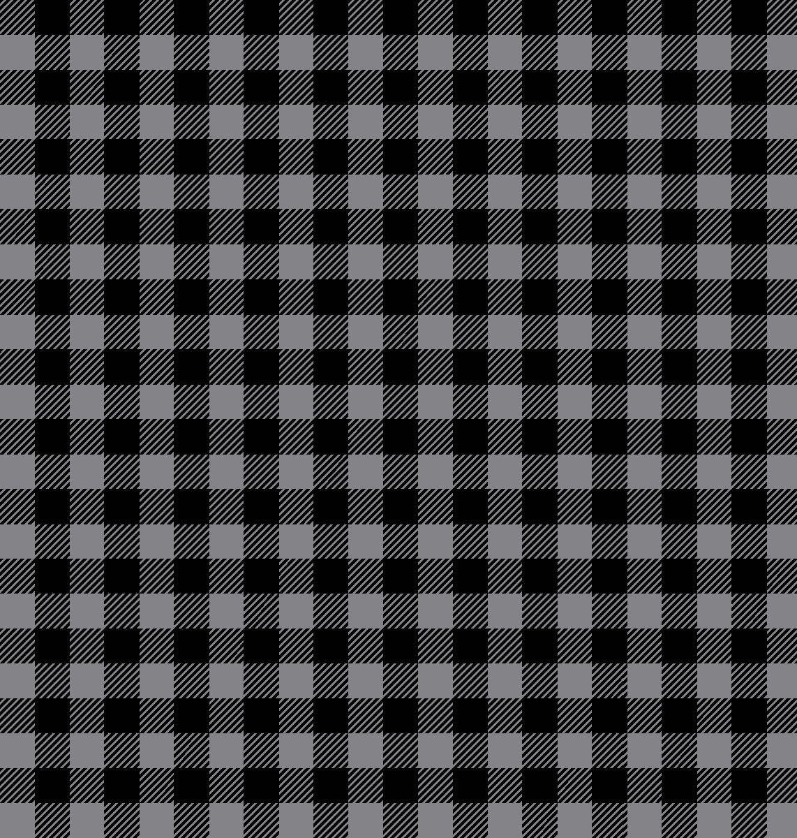 Purely Canadian Eh - Flannel Plaid Grey