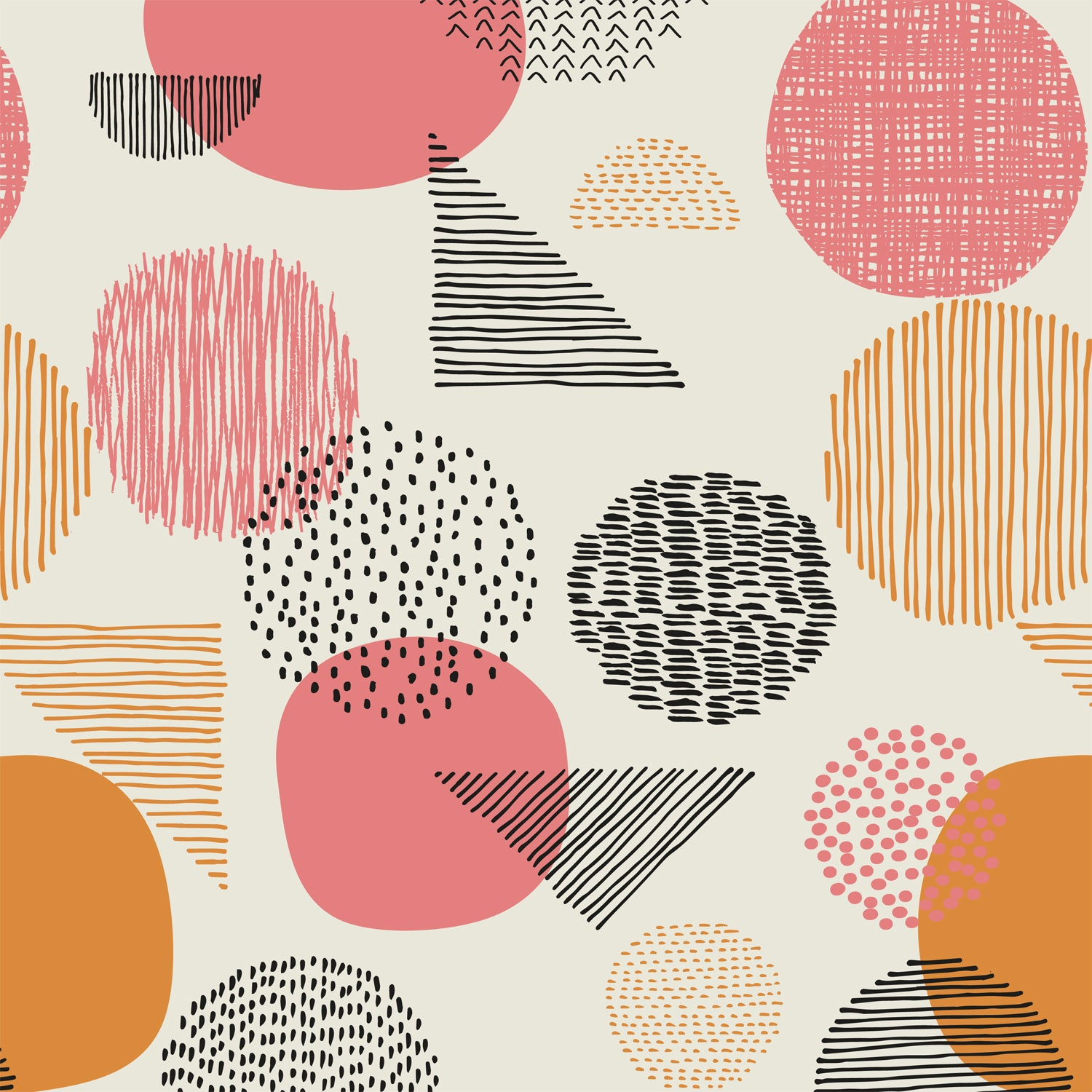 Katia - Dots Peach (Metallic) | Canvas