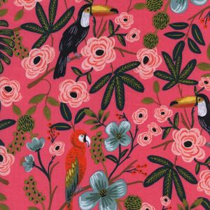 Menagerie - Paradise Garden Coral | Rayon Cotton Lawn