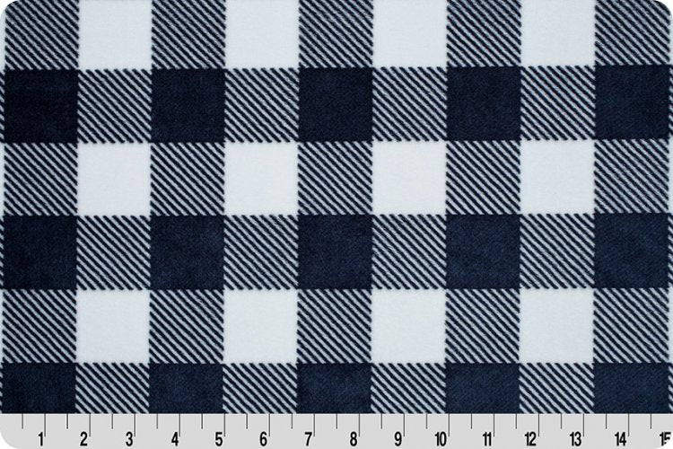 Buffalo Check Cuddle - Navy/Snow