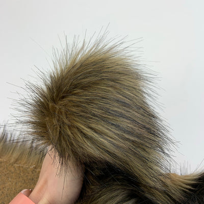 Wolf Fur - Brown/Black