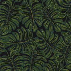 Menagerie - Monstera Midnight | Rayon Cotton Lawn