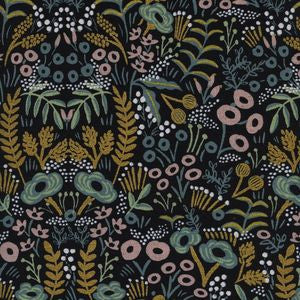 Menagerie - Tapestry Midnight | Canvas (Metallic)