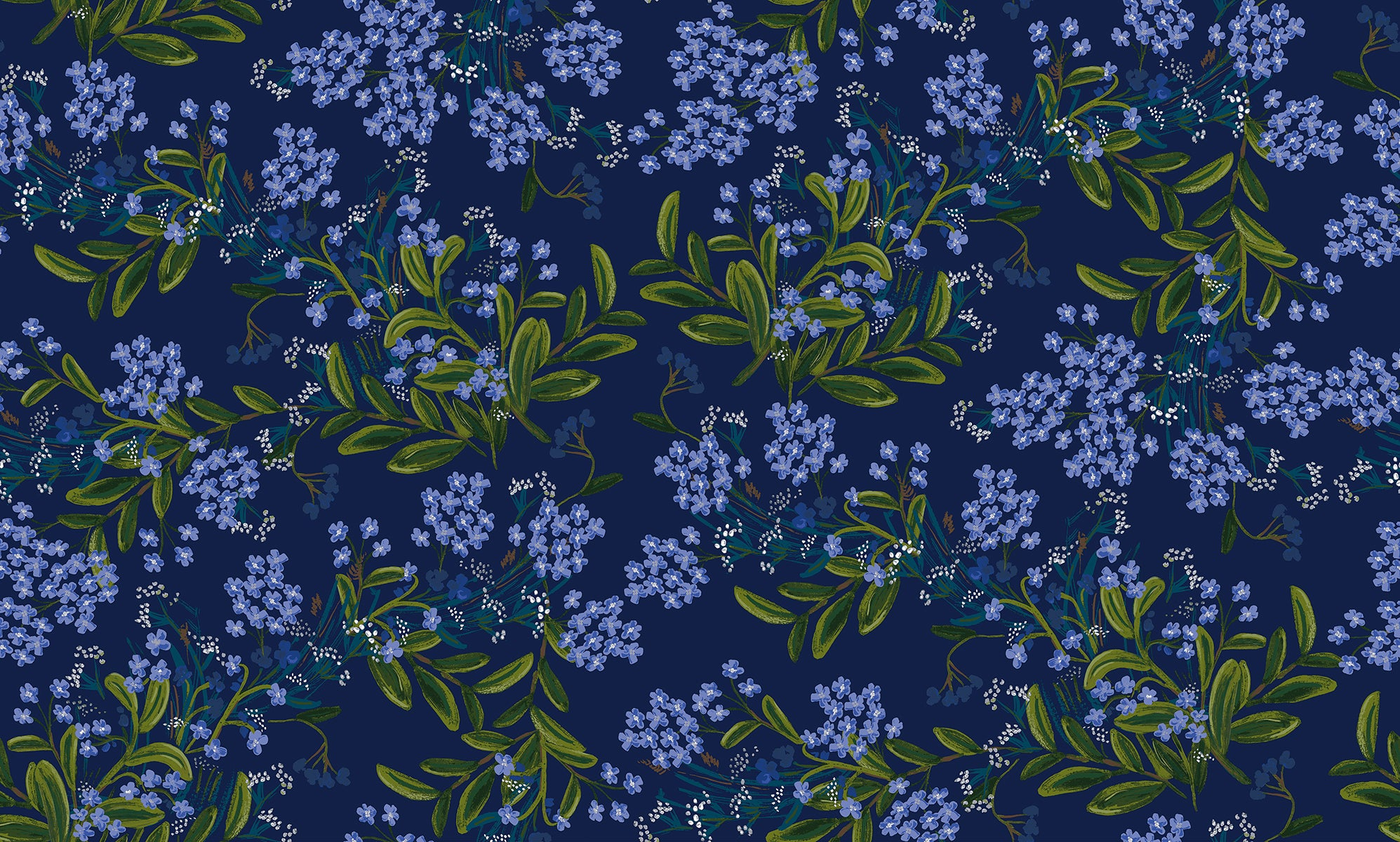 Meadow - Cornflower Navy | Rayon