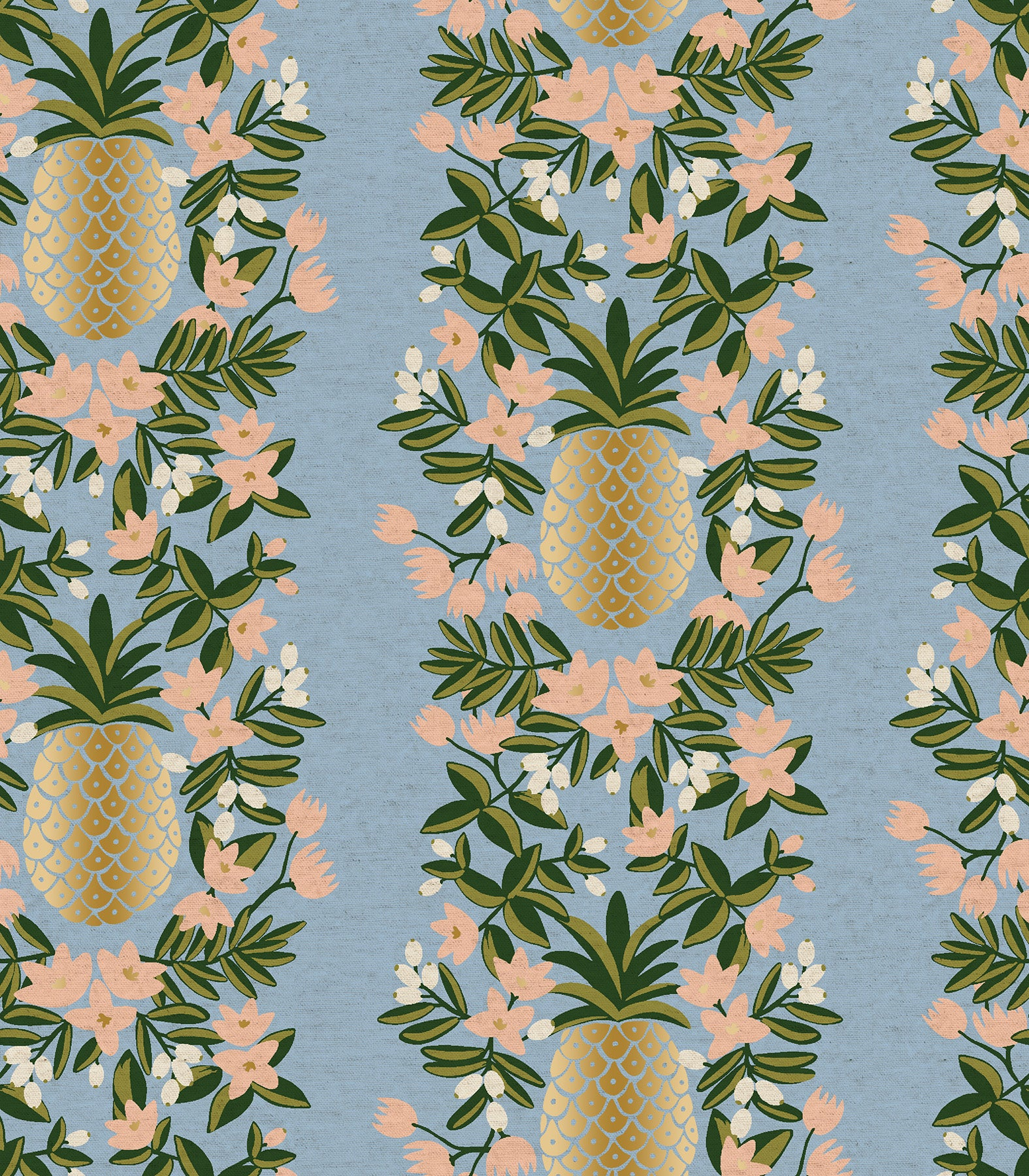 Primavera - Pineapple Stripe Periwinkle | Canvas