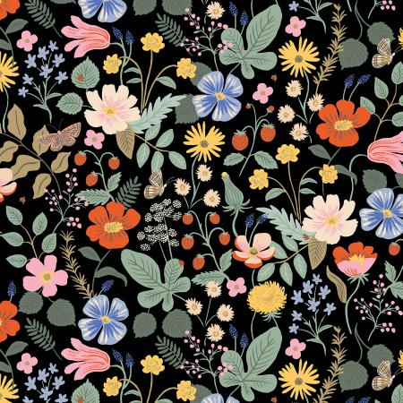 Strawberry Fields - Floral Black | Rayon