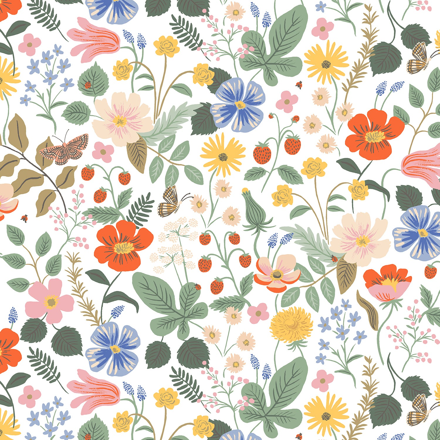 Strawberry Fields - Floral Ivory | Rayon
