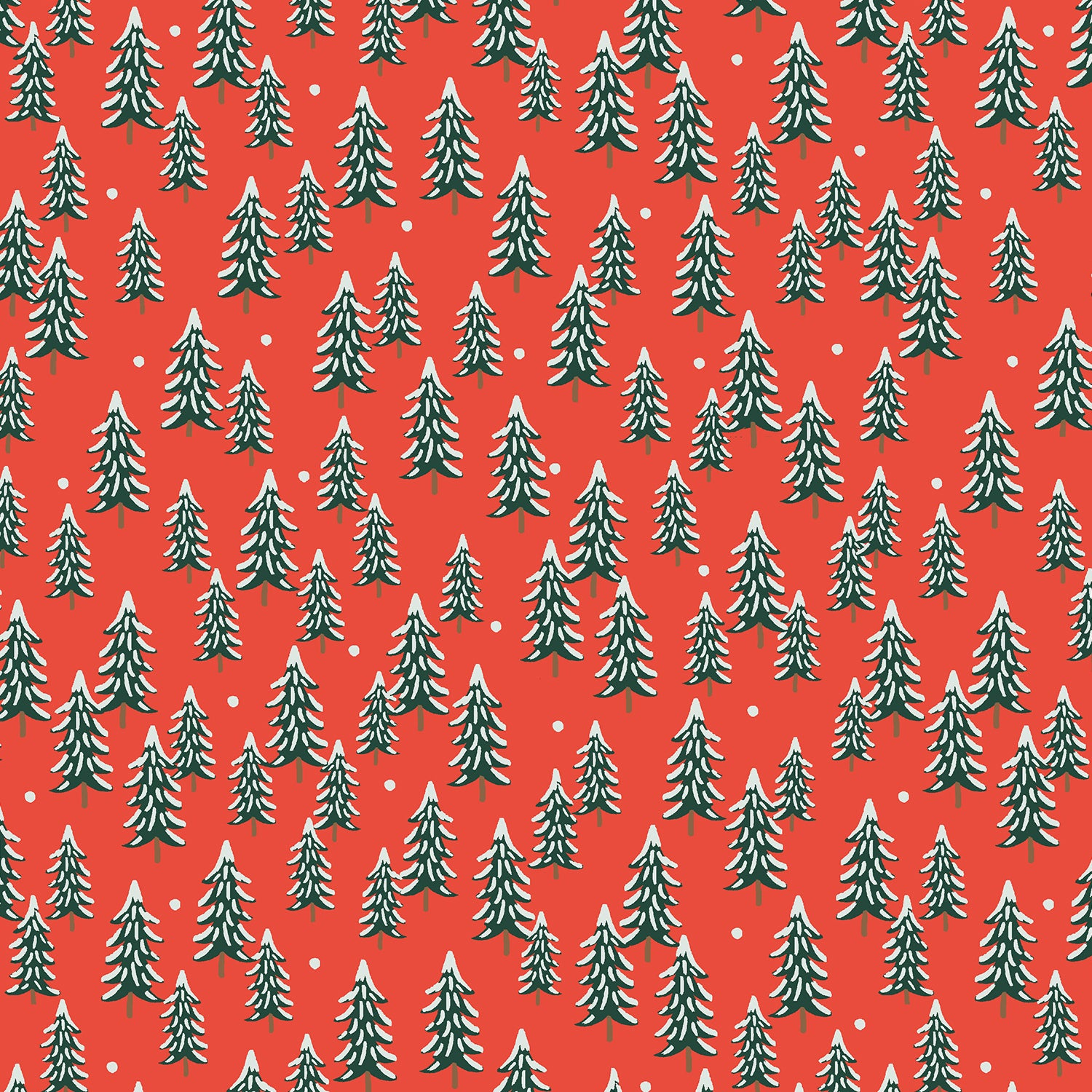 Holiday Classics - Fir Trees - Red