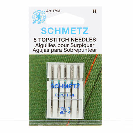Schmetz - Top Stitch Machine Needles 80/14 (5 Pack)