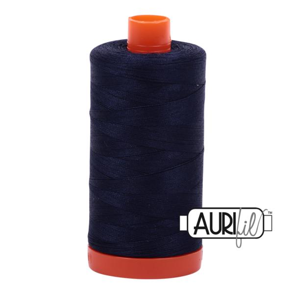 Aurifil 50wt - Very Dark Navy