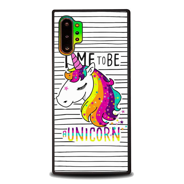 Time to be a Unicorn L0445 Samsung Galaxy Note 10 Plus , Note10+ Case