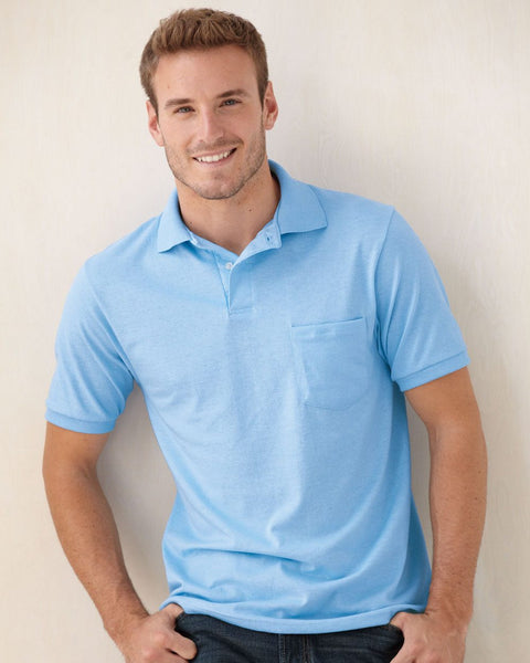 Ecosmart Mens polos with pocket by Hanes - Discountedrack.com