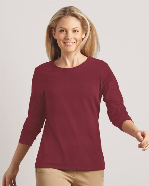3 pack Womens Long Sleeve T-shirt by Gildan - Discountedrack.com