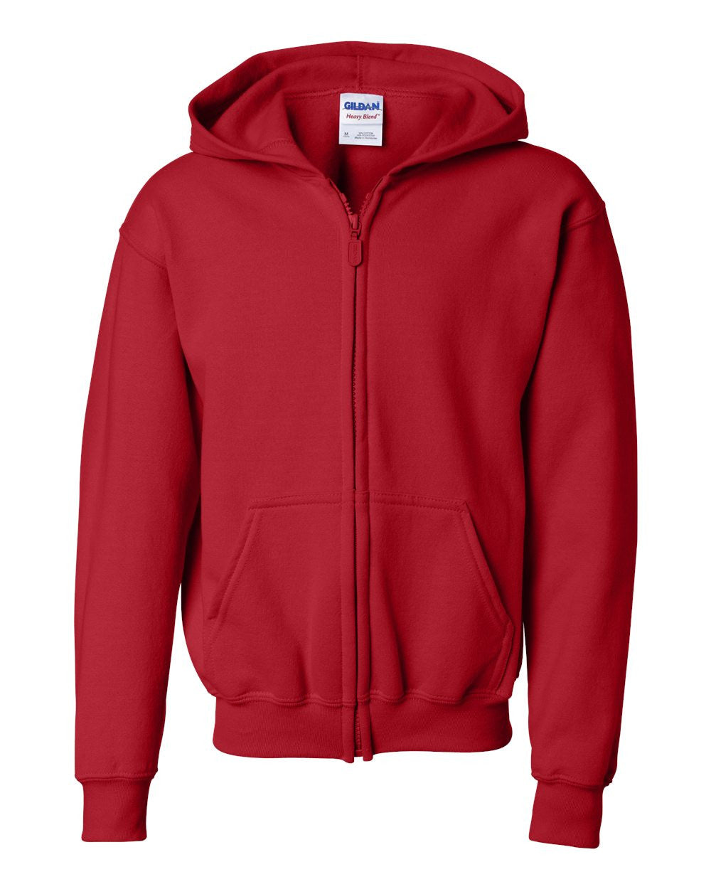Full-Zip Hooded youth Sweatshirt  by Gildan