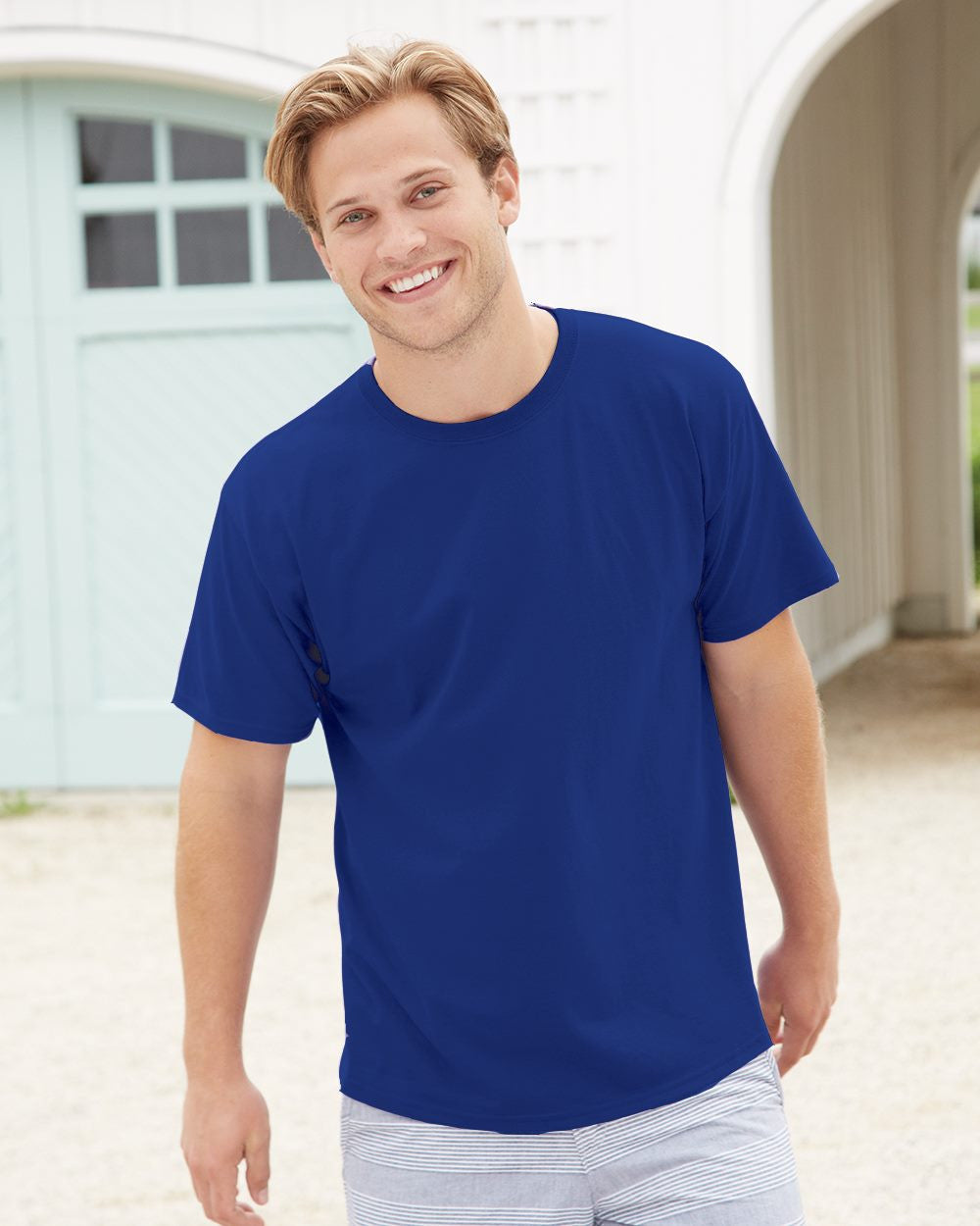 12-Pack Men's T-Shirts - Assorted Colors-Extended Sizes