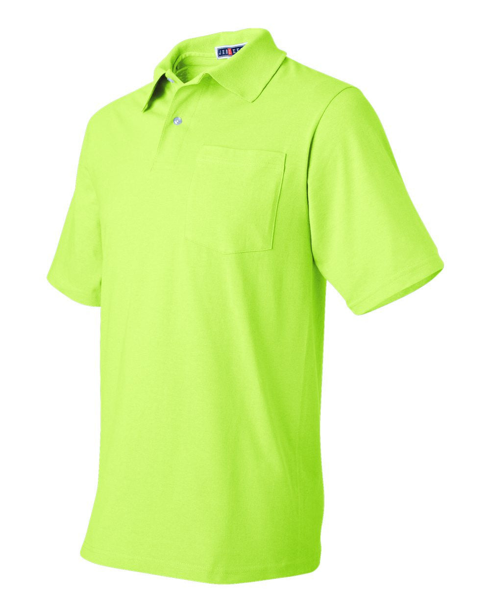Pocket Spot Shield Jersey Polos by Jerseez - Discountedrack.com