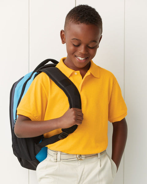 4 pack : Spot shield Youth polos by Jerseez - Discountedrack.com