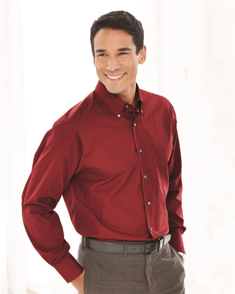 Silky wrinklefree Office  Shirt by Van Heusen - Discountedrack.com