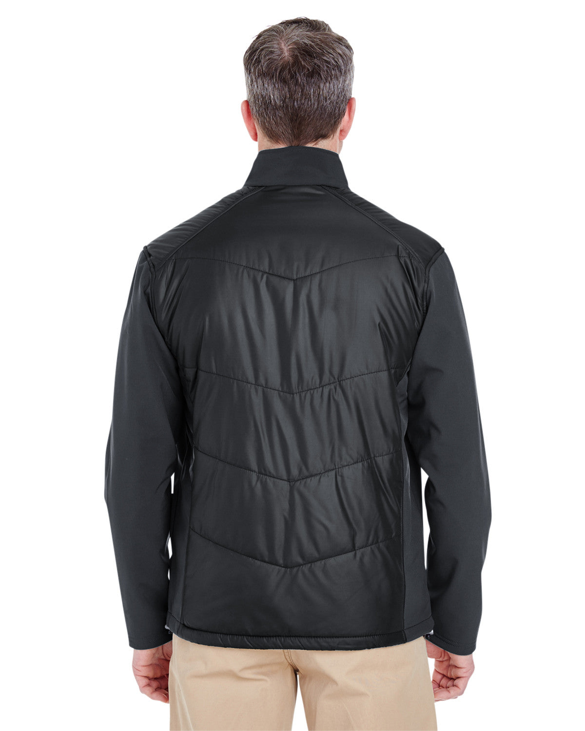 Adult Soft Shell Jacket with Quilted Front & Back by Ultraclub