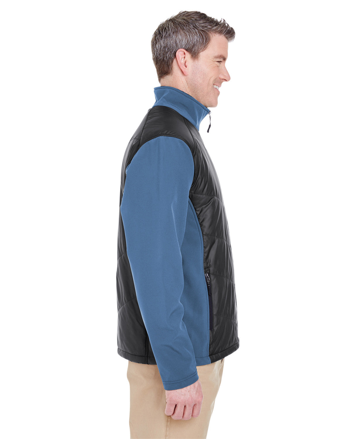 Adult Soft Shell Jacket with Quilted Front & Back by Ultraclub - Discountedrack.com
