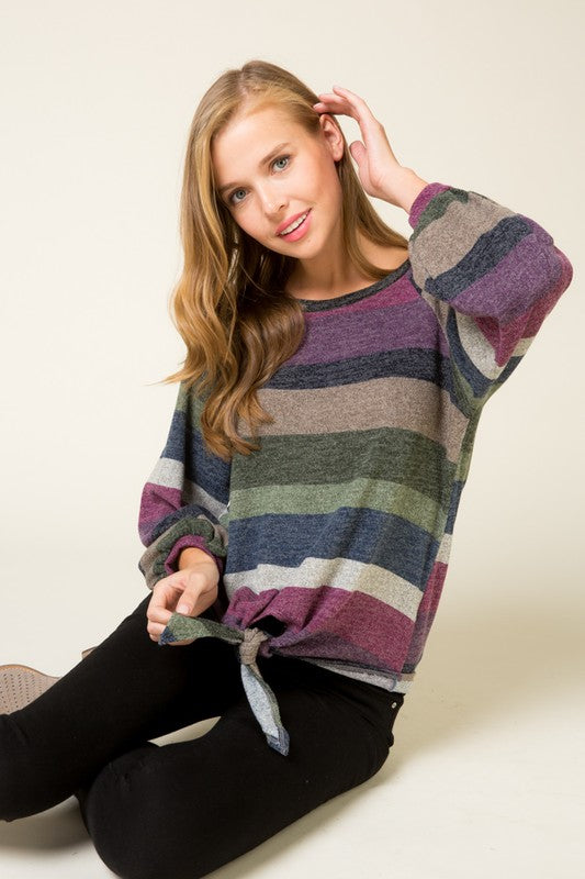 Multi-Striped Top