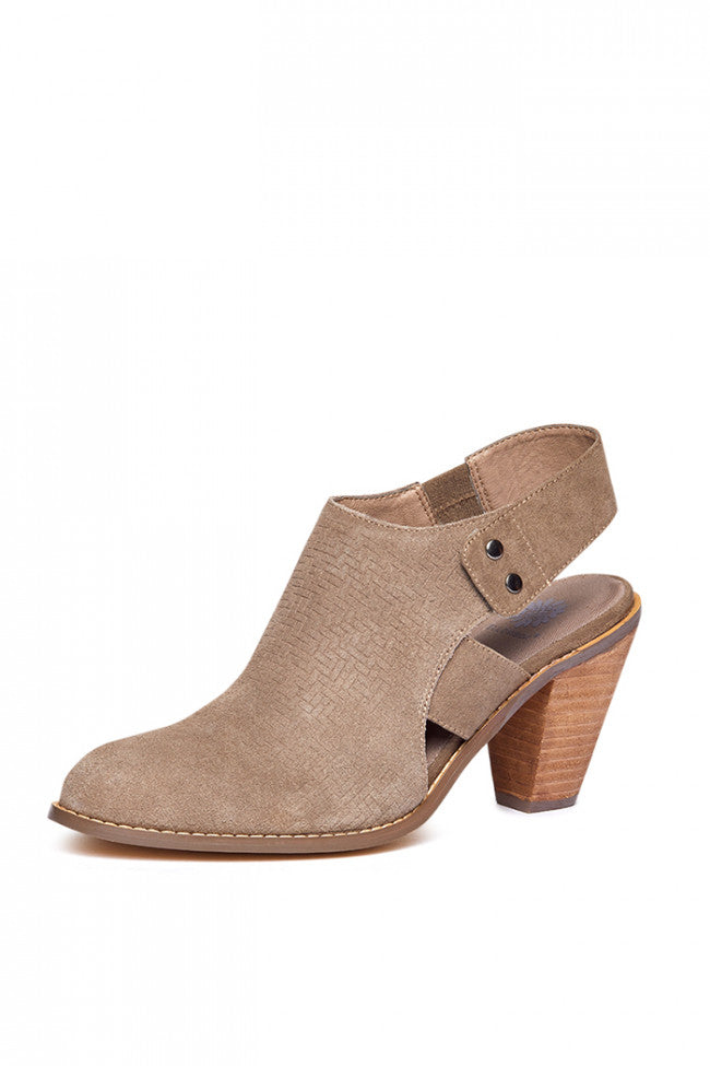 Yellowbox Suede Sling Back Bootie