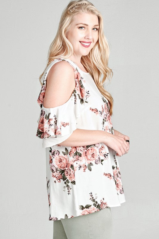 Floral Cold-Shoulder