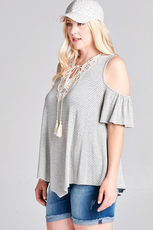 Jersey Knit Cold-Shoulder