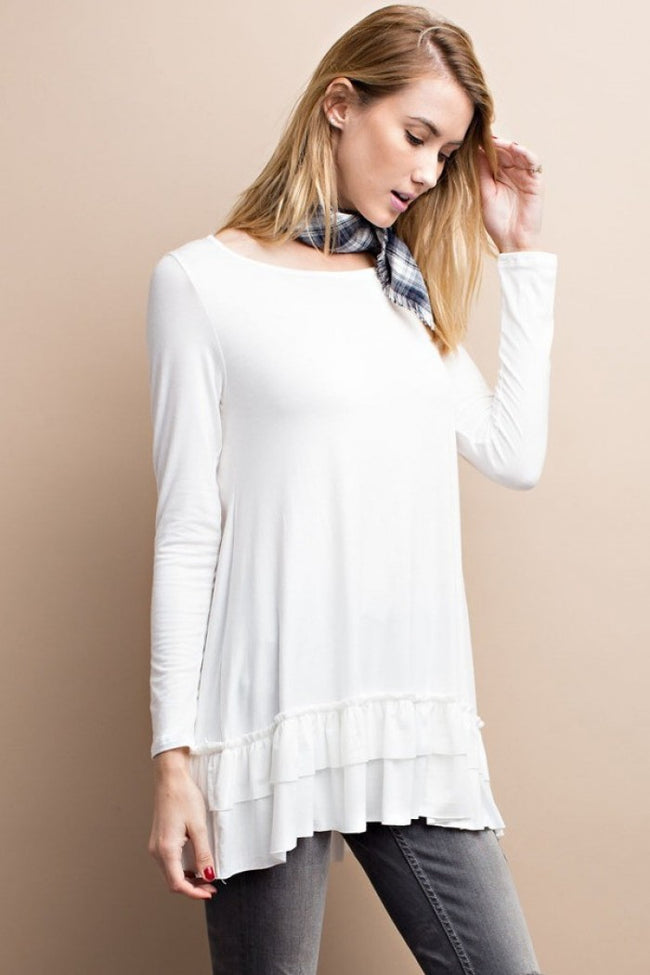 Super Soft Ruffle Tunic