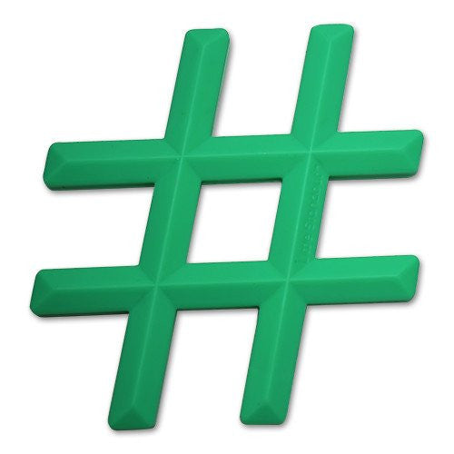 Silicone Hashtag Teether by Little Standout