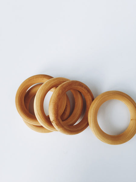 Teething Ring Maple Hardwood 3 Inch