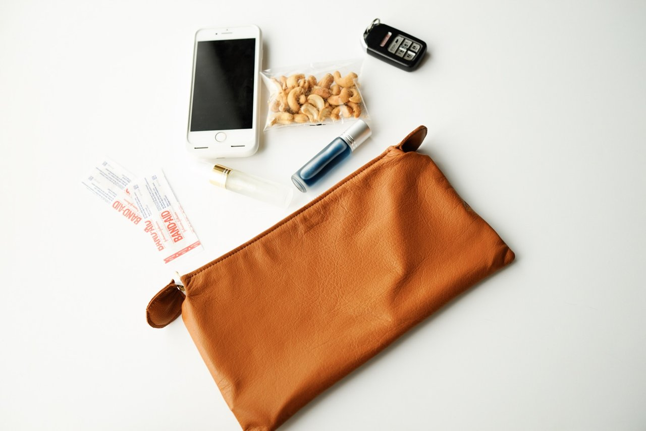 Leather Oil Bag Clutch