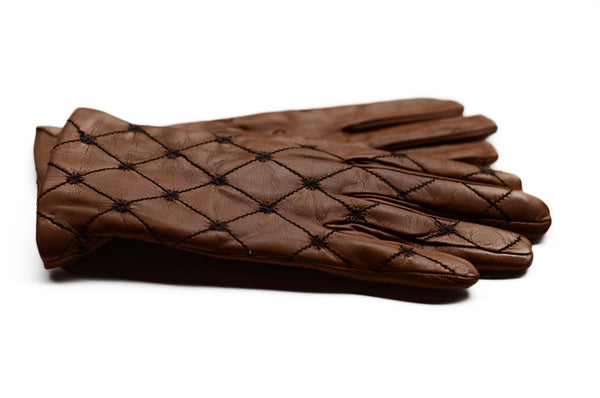 Ladies Italian Leather Gloves Tan