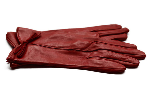 Womens Leather Gloves-Red Gloves-the height of fashion