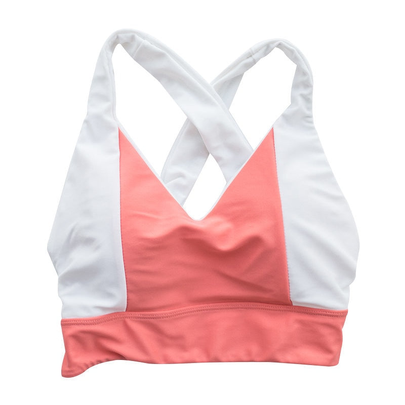 *FINAL SALE* Emily Top - Coral Pink / White