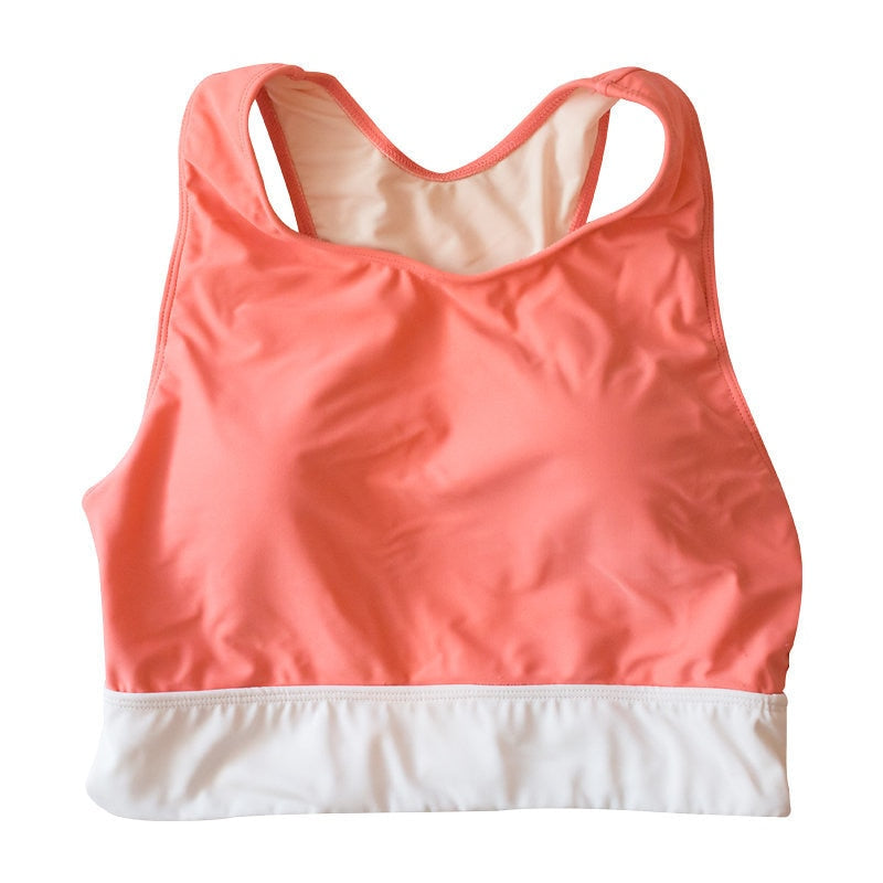 *FINAL SALE*Jenelle Sport Top - Coral Pink / White
