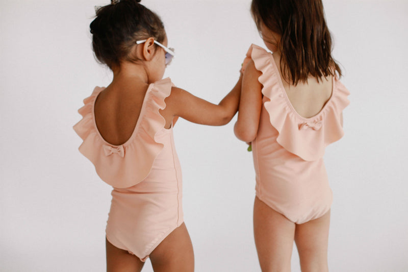 June Loop Swimwear June Marie Ruffled One Piece Blush