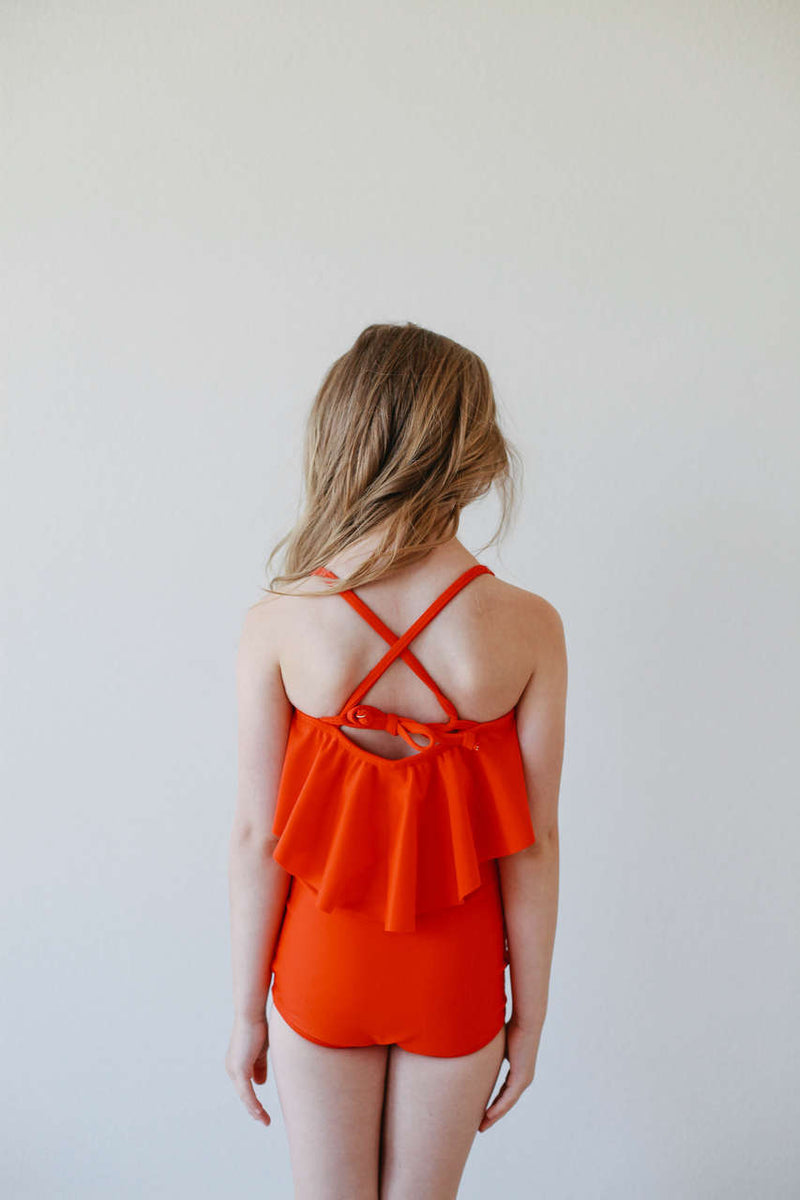Mini High-Waisted Bottoms - Poppy Red