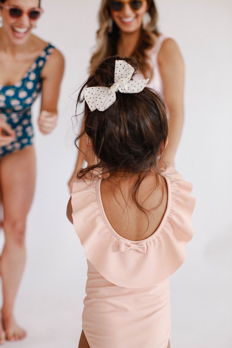June Marie Ruffled One Piece - Blush Pink