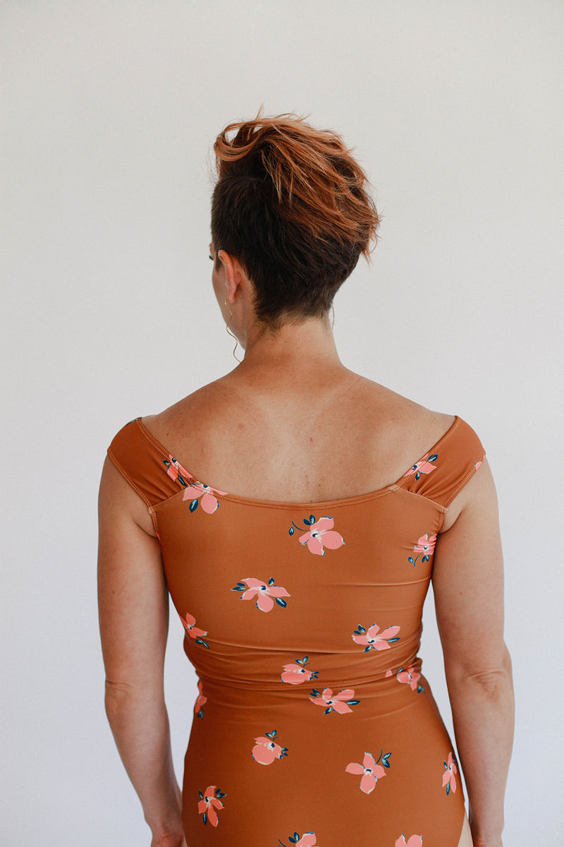 Cindy Top - Bronze Floral
