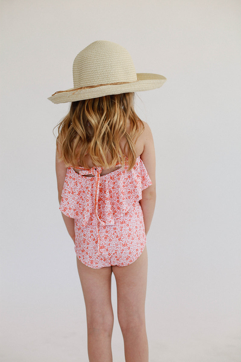 Mini High-Waisted Bottoms - Bright Pink Floral