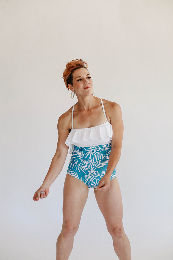 High-Waisted Bottoms - Blue Fern