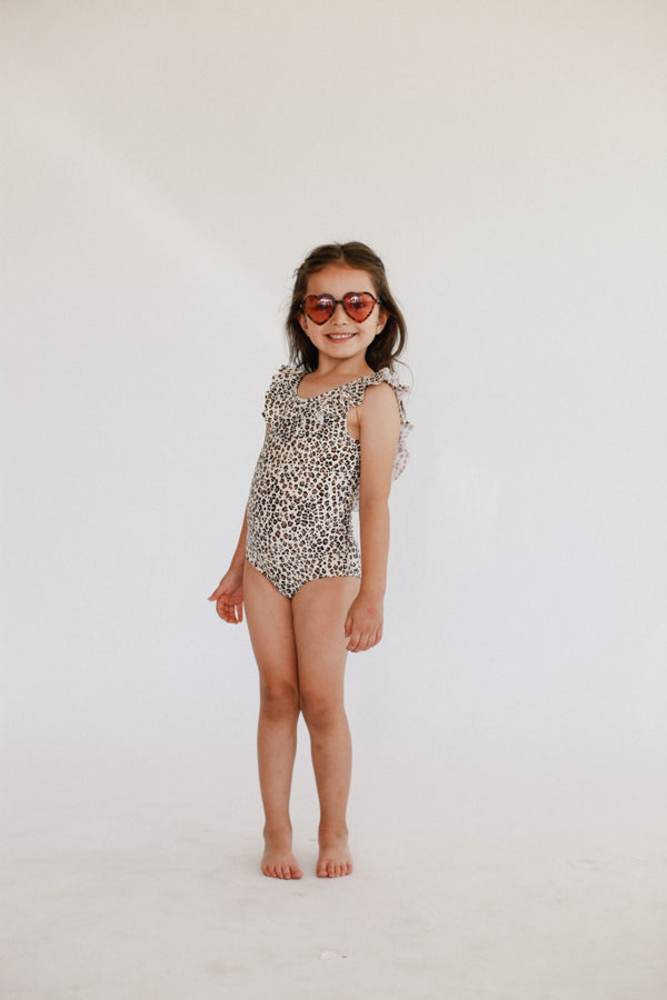 June Marie Ruffled One Piece - Leopard